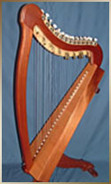 Para-celtic harps by harp maker Geoff Welham, NSW